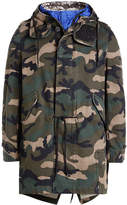Valentino Tech Hood Camouflage Cotton Parka