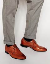 Ted Baker Leam Leather Derby Shoes - Brown