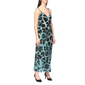Roberto Cavalli Dress Dress With Silk Braces With Giraffe Print