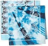 D&Y Women's 2 Pack Ikat Print/Tie Dye Bandana