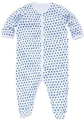 Roller Rabbit Hearts Footie Pajamas (Infant) (Blue) Kid's Jumpsuit & Rompers One Piece