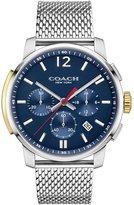 Coach 42mm Bleecker Chronograph Watch with Bracelet, Silver