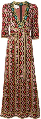 Gucci Printed Maxi Dress