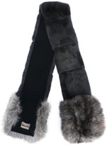 N.Peal Rex and fox fur scarf