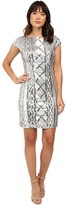 Adrianna Papell Cap Sleeve Cable Sequin Dress