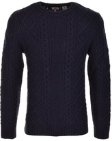 Levi's Levis Fisherman Cable Knit Jumper Navy