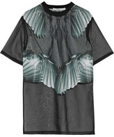 Givenchy Printed T-shirt In Black Silk-organza - FR36