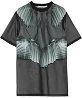 Givenchy Printed T-shirt In Black Silk-organza