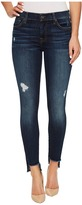7 For All Mankind The Ankle Skinny w/ Step Hem Destroy in Dark Riverside Drive Women's Jeans