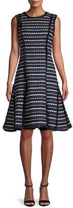 Oscar de la Renta Virgin Wool Cotton Tweed Dress