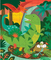 Dinosaur Puzzle Tin & Coin Bank - Green - Wild & Wolf