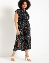 ELOQUII Button Front Shirt Dress
