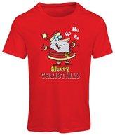 lepni.me T shirts for women Dancing Santa Claus Christmas vacation shirt