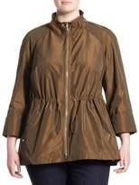Lafayette 148 New York, Plus Size Brandy Front Zip Jacket