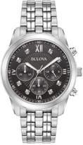Bulova Men's 40mm Chronograph Diamond Watch w/ Bracelet