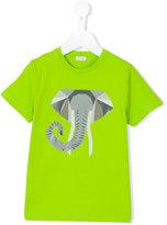 Il Gufo geometric elephant print T-shirt