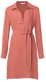 Ya-Ya Belted Midi Dress With Side Pockets - 10
