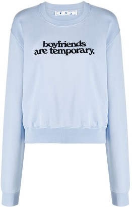 Off-White Slogan Sweatshirt