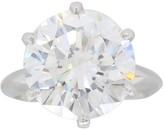 Tiffany & Co. Platinum & 4.52 ct Diamond Solitaire Ring Size 4.75