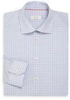 Eton Contemporary-Fit Check Cotton Dress Shirt