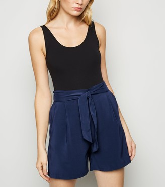 New Look Belted High Waist Shorts