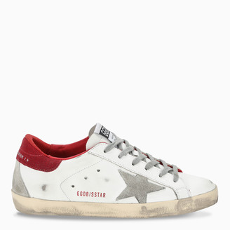 Golden Goose White/red Superstar sneakers