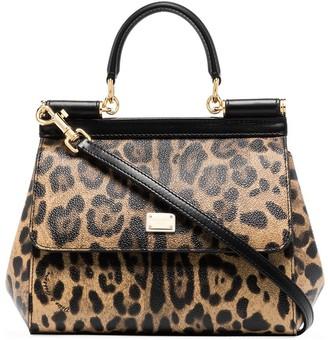Dolce & Gabbana Sicily leopard-print tote bag
