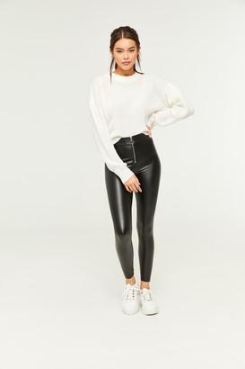 Ardene Faux Leather Zip Leggings