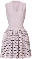 Alaia Flared Dress with Cutout Skirt