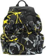 Burberry paint splatter rucksack