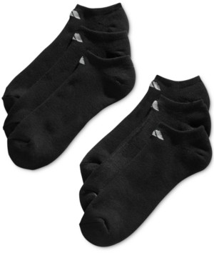 adidas Men's No-Show Athletic Extended Size Socks, 6 Pack