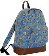 Yours Clothing Blue & Multi Owl Print Backpack