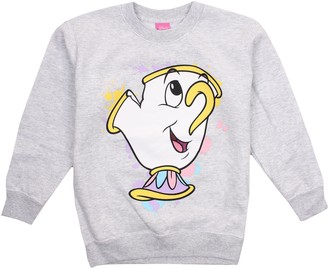 Disney Beauty And The Beast Girl's Chip Splatter Sweatshirt