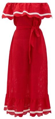 Marysia Swim Lemnos Ruffled Broderie-anglaise Cotton Dress - Red