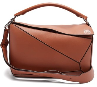 Loewe Puzzle Large Leather Bag - Tan