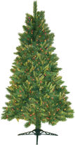 JCPenney General Foam Plastics 6.5' Pre-Lit Mixed Pine Christmas Tree