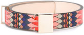 Paul Smith geometric print belt - women - Calf Leather/zamac - 75