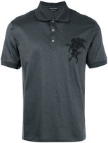 Alexander McQueen classic fitted polo top - men - Silk/Cotton/Polyester - S