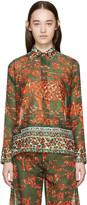 Valentino Green & Orange Rhino Shirt