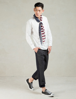 SASQUATCHfabrix. White Stars And Stripes Scafe L/S Shirt