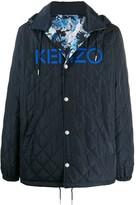 Kenzo diamond quilted logo coat