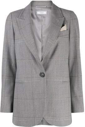 Peserico check print blazer