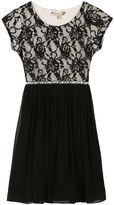 Speechless Girls 7-16 & Plus Size Lace Bodice Mesh Skirt Dress