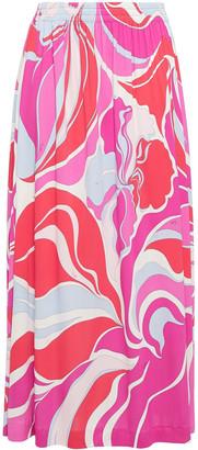 Emilio Pucci Printed Jersey Midi Skirt