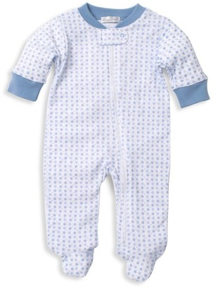 Kissy Kissy Baby Boy's Pima Cotton Star Print Footie