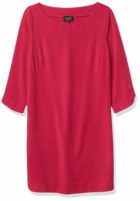 Laundry by Shelli Segal Women's T-Body with Step Hem 3/4 Sleeve Dress