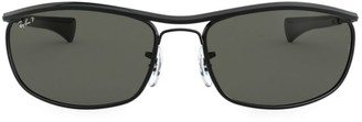 Ray-Ban RB3119M 62MM Rectangular Aviator Sunglasses
