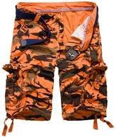 AmelieDress Men's Casual Camouflage Shorts Large Size Multi-pocket 5/10 Pants 29