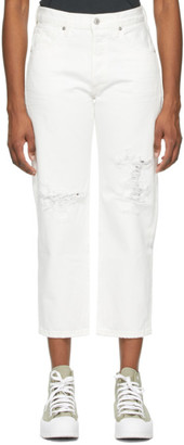 Citizens of Humanity White Emery Crop Jeans