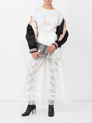 Sacai heart embroidered trousers
